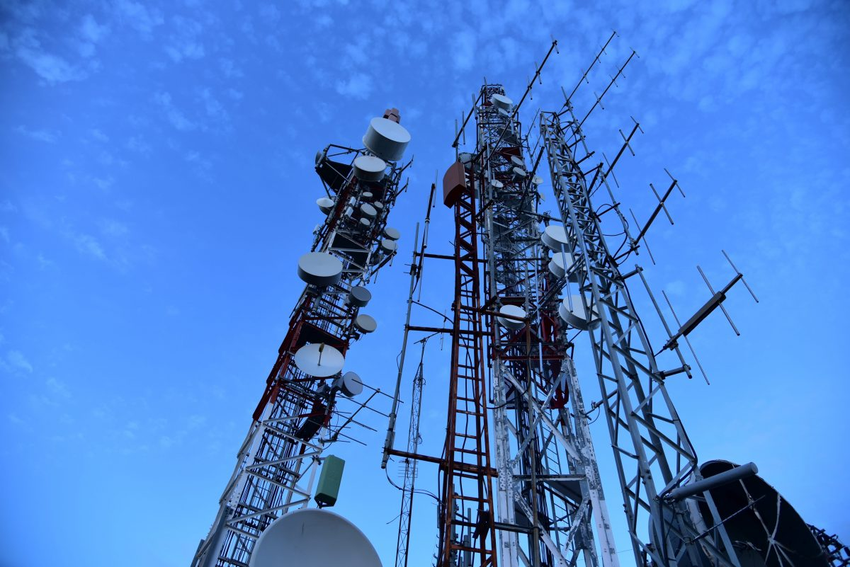 5G Network Tower Poles Infrastructure