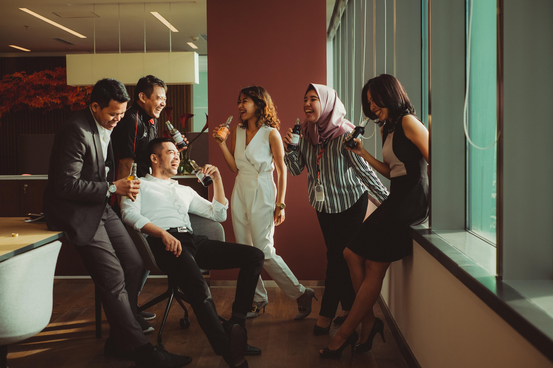Asian Freelancers Socializing