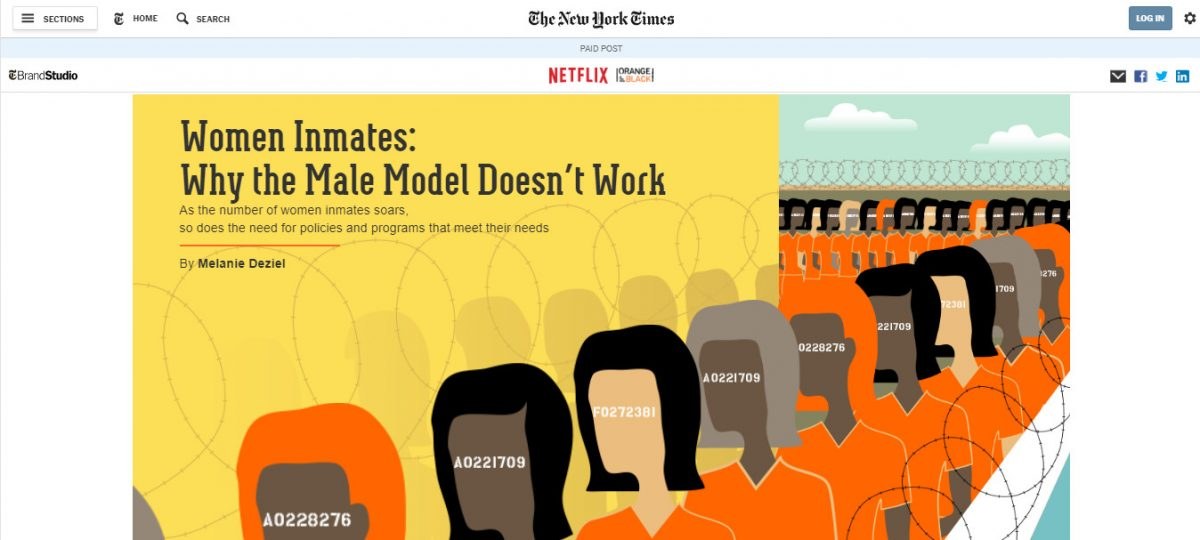 Netflix promotes Orange is the New Black in New York Times