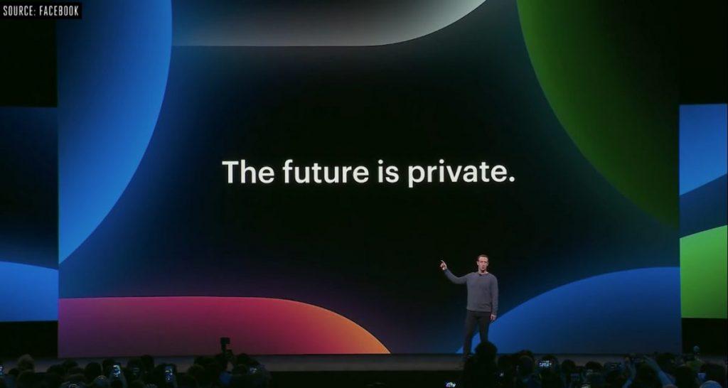 Mark Zuckerber the future is private for Facebook
