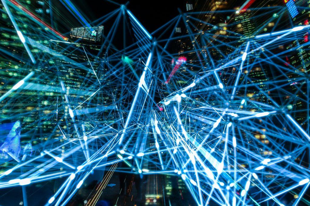 Streams of data in light