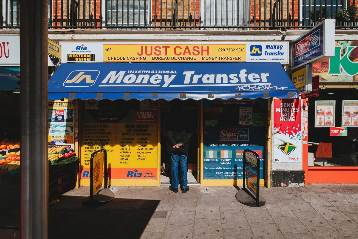Money transfer store front